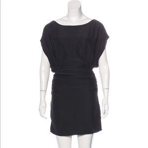 Elizabeth and James silk black ruched mini dress